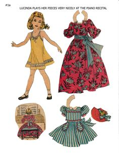 """LUCINDA Lucy Eleanor Leary's """"BOSTON SUNDAY POST"""" Newspaper Paper Dolls 1940s & 1950s  1 of 2"""