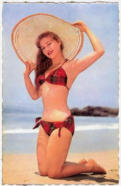 Vintage tartan bikini perfection! #plaid #tartan #bikini #vintage #summer #beach #1950s #1960s