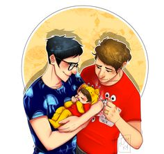 Tumblr Phan Art | phan phanart dil howlter kip attempts art yes dan is wearing phil's ...