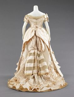 Charles Fredrick Worth eveing gown ca. 1872 via The Costume Institute of The Metropolitan Museum of Art