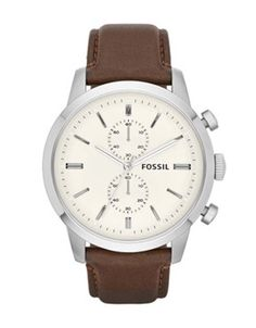 For Him: Classy and elegant. Fossil Watch, Men's Chronograph Townsman Brown Leather Strap - click now to see some magical apparel Diesel Watches For Men, Fossil Watches For Men, Cool Watches, Men's Watches, Jewelry Watches, Dress Watches, Daniel Wellington, Tommy Hilfiger, Herren Chronograph