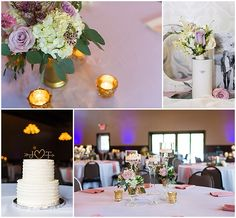 Gorgeous blush accents for the wedding reception. Iowa Wedding Photography | CTW Photography