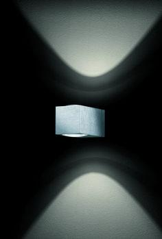 como . outside luminaire . Außenleuchte . wall luminaire . Wandleuchte . aluminium brushed, anodized . Aluminium gebürstet, exloxiert . LED