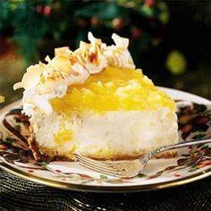 Festive Piña Colada Cheesecake | MyRecipes.com