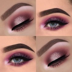 75 Most Gorgeous Pink Smokey Eyes Makeup Inspiration For Prom And Wedding – Page 10 of 75 - Smokey Eye Makeup Pink Eye Makeup, Pink Eyeshadow, Smokey Eye Makeup, Cute Makeup, Hair Makeup, Makeup Salon, Glitter Makeup, Dress Makeup, Eyeshadow Palette