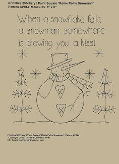 When a snowflake falls a snowman somewhere by JoAnnCountryCorner, $2.00