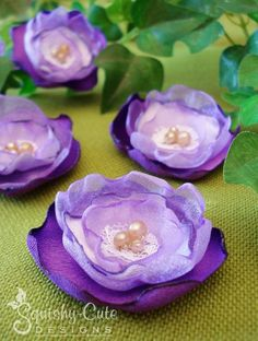 How to make fabric flowers tutorial - wedding decorations, boutonnieres, bouquets, bridal showers, baby showers, birthday ideas