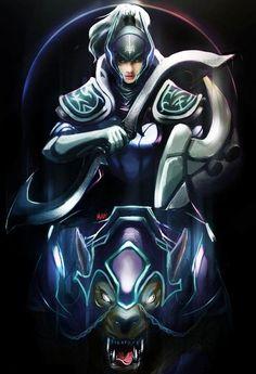 Fan art DOTA 2 Luna - Moon Knights