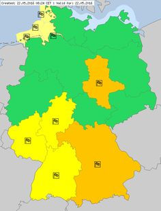 Meteoalarm - severe weather warnings for Europe - Mainpage - Germany