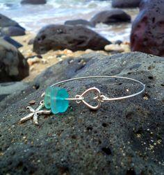 Starfish Sea glass Bangles by EarthOfferingsMaui on Etsy