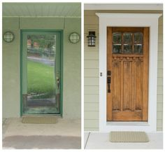 front door trim by lupe--love the wider trim instead of side windows on each side of the door