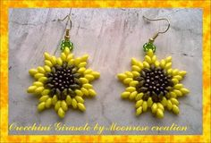 FREE instructions for SuperDuo Flower Earrings featured in Bead-Patterns.com Newsletter!