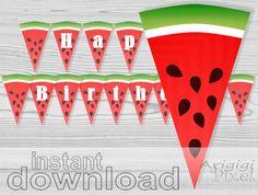 slices of watermelon banner printable happy by ArigigiPixel,
