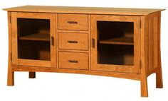 Contemporary Craftsman 3-Drawer Media Console from Vermont wood studios