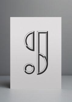 Best Monogram - Dcl Blackwhite Derrickclee images on Designspiration Modern Typography, Typography Design, Branding Design, Logo Design, Graphic Design, Number Typography, Logo Branding, Monogram Tattoo, Monogram Logo