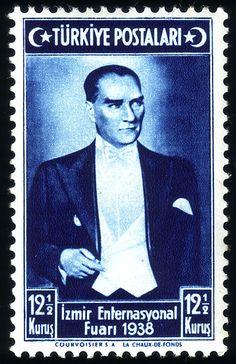 Türk PullarıAtatürk pulu (1938)
