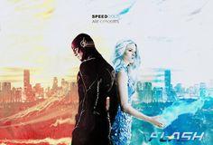 Speed & Cold are opposites ~ FlashFrost fan art ~ Snowbarry wallpaper ~ Barry & Caitlin