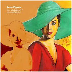 Jane Fonda #janefonda #janefondaart #джейнфонда #art #портрет #beautiful #artist #instaartist #instaart #рисунок  #oldhollywood #goldenage #vintage #vintagewoman #звезда #кинодива