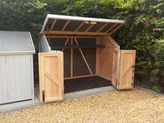 Amazing Shed Plans - Standard Gallery - Now You Can Build ANY Shed In A Weekend Even If You've Zero Woodworking Experience! Start building amazing sheds the easier way with a collection of shed plans! Backyard Storage, Backyard Sheds, Bike Storage, Outdoor Sheds, Outdoor Storage, Motorcycle Storage Shed, Garbage Storage, Kayak Storage, Backyard Bbq