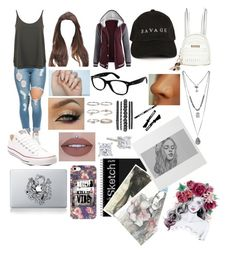 """""""Sofi Miles"""" by emiily-13j on Polyvore featuring Miss Selfridge, Converse, River Island, Vinyl Revolution, Ray-Ban, Pottery Barn, Gucci and Boohoo"""