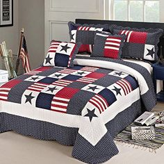 XQL 100% Cotton Baby Stars Irregular Stripes 2 Piece Quilt Set - Twin Size Muti-Color