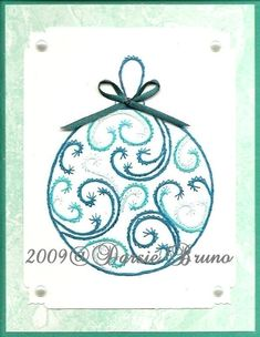 Christmas Ornament Paper Embroidery Pattern for Greeting Cards. $1.50, via Etsy.
