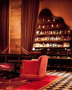 Rose Bar - Gramercy Park Hotel. Romantic atmosphere, amazing art, sexy chic crowd and, of course, great cocktails.