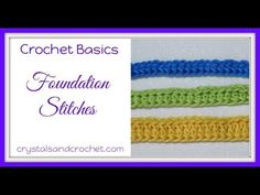 Foundation stitches can be used instead of making a number of chains and then working stitches into the chains. This will be when you are working in rows. Crochet Basics, Crochet Stitches, Crochet Patterns, Foundation Half Double Crochet, Contact Form, Single Crochet Stitch, Yarn Over, Learn To Crochet, Chain Stitch
