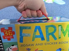 Such a handy thing to be able to carry round. View my review on this fun sticker book with puzzle! From Little Tiger Press