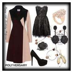 """""""// Celebrate Our 10th Polyversary! //"""" by nura-akane ❤ liked on Polyvore featuring Suzanne Kalan, Yves Saint Laurent, Nly Shoes, Oscar de la Renta, Christian Louboutin and polyversary"""