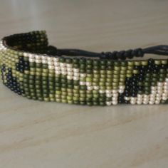 Army camouflage bracelet. Made with love