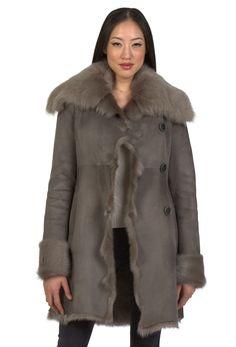 Leanne Women's Shearling Swing Coat | Women's Shearling Coats and