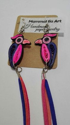 Bring color to your day and a smile on your face with these stylish and fun leather tassel earrings. Their quirky design was inspired by the colors of summer and the life joy birds feel in the wild.   PRODUCT DETAILS ◆ High-quality and durable quilling paper ◆ Tassels out of genuine leather ◆ Lightweight and very firmly fixed   YOU WANT TO CUSTOMIZE IT? Please let me know your desires and I will strive to create a perfect item for you. My personal goal is to have happy customers wearing…