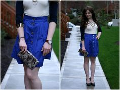 Adventures in Dressmaking: How to Wear DIY: Blue skirt from Megan Nielsen pattern, and DIY shoes