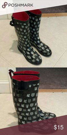 Capelli boots Owl print Capelli boots.  Excellent condition only worn once. Shoes Winter & Rain Boots