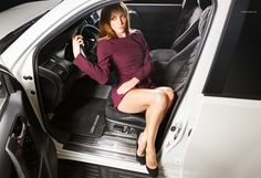 sexi girl in car