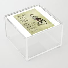 Albert Einstein in bicycle Acrylic Box by edream Acrylic Box, Albert Einstein, Cute Gifts, Decorative Boxes, Bicycle, Beautiful Gifts, Bike, Bicycle Kick, Bicycles