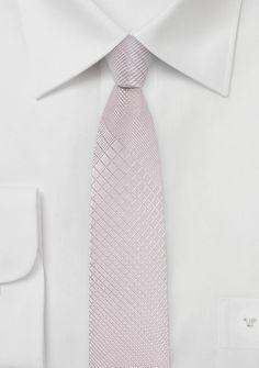 Krawatte schlank  abstraktes Muster zartrosa
