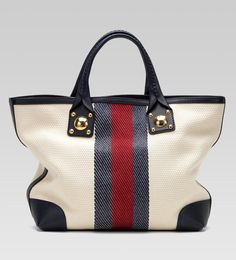 Gucci 'sunset' medium tote with hand stitching and large studs with engraved interlocking G