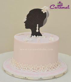 Bridal Shower Cake by Caramel Doha