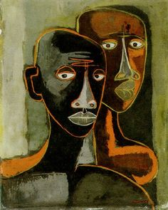 View La pareja by Oswaldo Guayasamín on artnet. Browse upcoming and past auction lots by Oswaldo Guayasamín. Abstract Portrait, Portrait Art, Cubist Portraits, Arte Latina, Art Visage, African Art, African Abstract Art, Art Plastique, Figurative Art