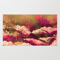 """""""It's a Rose Colored Life 2"""" by Ebi Emporium on @society6 Art Area Rug, Modern Home Decor Colorful Fine Art Abstract Fall Floral Painting Burgundy Crimson Red Pink Magenta Olive Green Drip Brushstrokes Flowers Garden #autumn #autumndecor #colorful #floral #flowers #pink #red #olive #abstract #fineart #art #painting #falldecor #fall #arearug #rug #artrug #decorative #dorm #homedecor #EbiEmporium #Society6"""