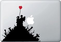 KIDS ON GUN HILL WITH RED BALLOON - BANKSY STYLE