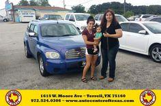 https://flic.kr/p/M7yxPG | Congratulations Blanca on your #Chevrolet #HHR from Yader Hernandez at Auto Center of Texas! | deliverymaxx.com/DealerReviews.aspx?DealerCode=QZQH