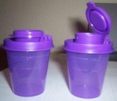 Tupperware Personal Salt and Pepper Set (Color Purple Deep Violet)