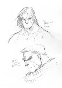 Sketch - Faces by Joe Madureira