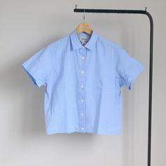 Comfort Shirt S/S - square #sax check