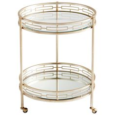 Cyan Design Gilded Meridian Bar Cart