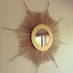 DIY Home Decor Craft Projects   DIY Sunburst Mirror – Weekend Craft Project   RedAgape