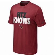 In case you were wondering ... FITZ KNOWS.  New Arizona Cardinals Larry Fitzgerald Nike T-Shirt